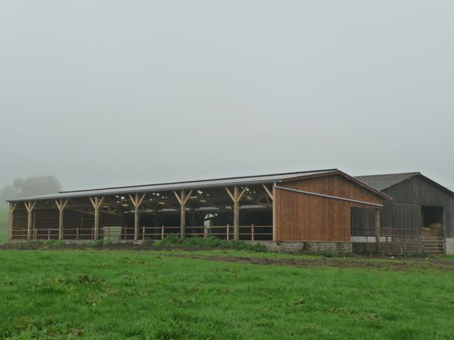Concept bois b timent agricole bois stokage agricole for Plan hangar agricole