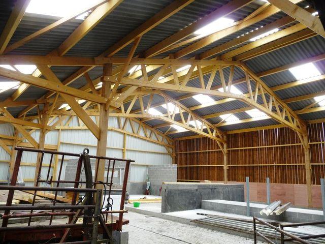 Concept bois b timent agricole bois stokage agricole hangar agricole - Construction hangar bois ...
